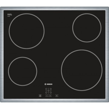 Vestavné spotřebiče - Bosch PKE645D17E nerez sklokeramická varná deska , 60 cm