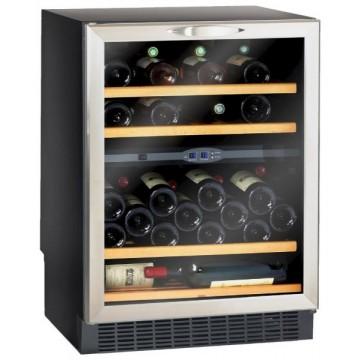 Vestavné spotřebiče - Climadiff CV52IXDZ vinotéka dvouzónová, 50 lahví, stříbrná/černá