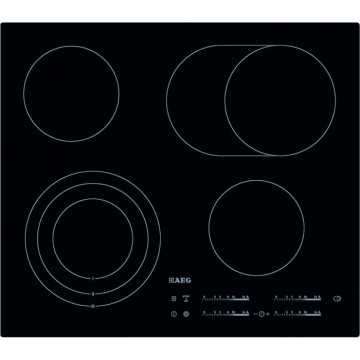 Vestavné spotřebiče - AEG Mastery HK654070IB elektrická varná deska zapustitelná do kamenné desky, černá, šířka 59 cm