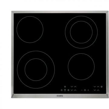 Vestavné spotřebiče - AEG Mastery HK634021XB elektrická varná deska s rámečkem, černá, šířka 58 cm