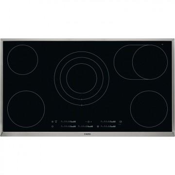 Vestavné spotřebiče - AEG Mastery HK955070XB elektrická varná deska s rámečkem, černá, šířka 90 cm