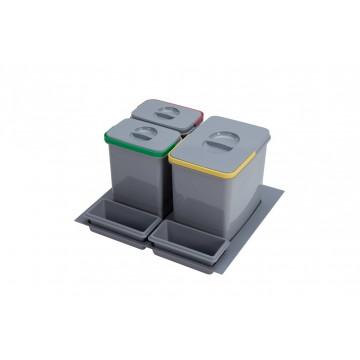 Odpadkové koše - Sinks PRACTIKO 600 1x12l+2x5l