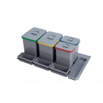 Odpadkové koše - Sinks PRACTIKO 900 2x15l+2x7l