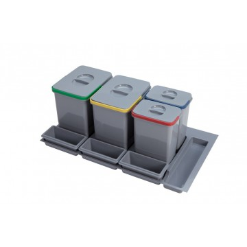 Odpadkové koše - Sinks PRACTIKO 900 2x12l+2x5l