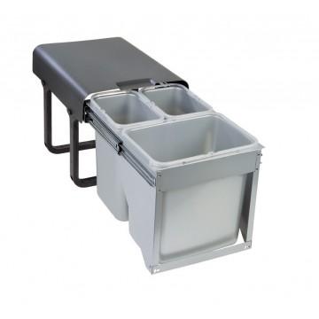 Odpadkové koše - Sinks EKKO FRONT 40 2x8l+ 1x16l