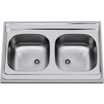 Kuchyňské dřezy - Sinks CLP-A 800 DUO M 0,5mm matný
