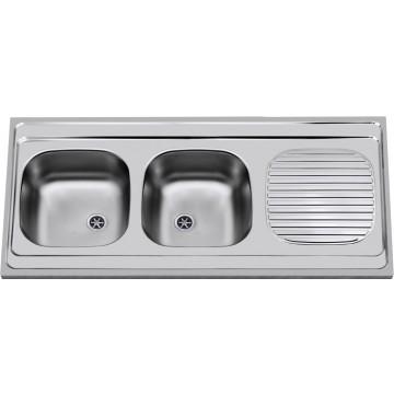 Kuchyňské dřezy - Sinks CLP-A 1200 DUO M 0,6mm matný