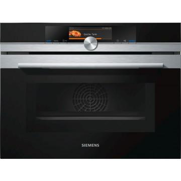 Vestavné spotřebiče - Siemens CM678G4S1 kompaktní trouba s mikrovlnami, nerez