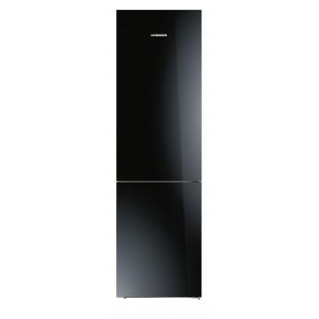 Volně stojící spotřebiče - Liebherr CBNPgb 4855 kombinovaná chladnička, BioFresh, NoFrost, skleněné černé dveře