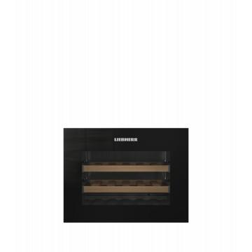 Vestavné spotřebiče - Liebherr WKEgb 582  vestavná kompaktní klimatizovaná vinotéka, bezúchytková, černá