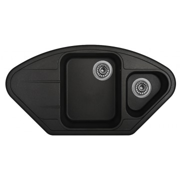 Zvýhodněné sestavy spotřebičů - Set Sinks LOTUS Metalblack+CAPRI 4S GR