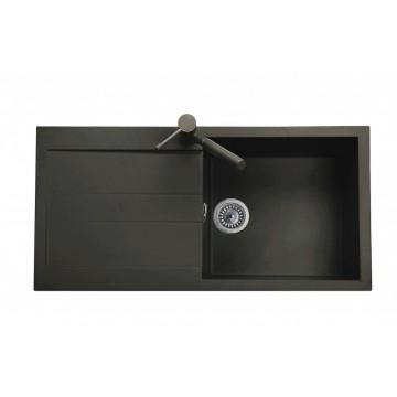Zvýhodněné sestavy spotřebičů - Set Sinks AMANDA 990 Metalblack+CAPRI 4S GR