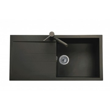 Zvýhodněné sestavy spotřebičů - Set Sinks AMANDA 990 Metalblack+MIX 3P GR