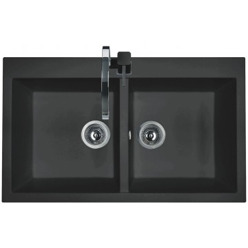 Zvýhodněné sestavy spotřebičů - Set Sinks AMANDA 860 DUO Metalblack+MIX 35 GR