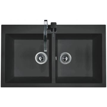 Zvýhodněné sestavy spotřebičů - Set Sinks AMANDA 860 DUO Metalblack+MIX 3P GR