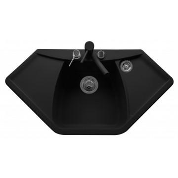 Zvýhodněné sestavy spotřebičů - Set Sinks NAIKY 980 Metalblack+MIX 35 GR