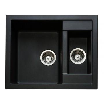 Zvýhodněné sestavy spotřebičů - Set Sinks CRYSTAL 615.1 Metalblack+CAPRI 4S GR