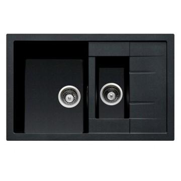 Zvýhodněné sestavy spotřebičů - Set Sinks CRYSTAL 780.1 Metalblack+CAPRI 4S GR