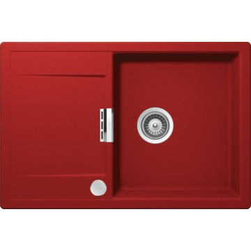 Dřezy - Schock Mono D-100 CRISTADUR Rouge granitový dřez horní montáž