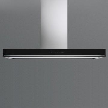 Vestavné spotřebiče - Falmec BLADE DESIGN Wall - nástěnný odsavač, šířka 90 cm, černá/nerez, 800 m3/h