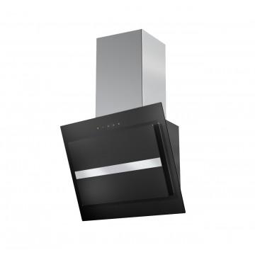 Vestavné spotřebiče - Faber NORTHIA EV8 BK/X A60  - komínový odsavač, černá / černé sklo, šířka 60cm