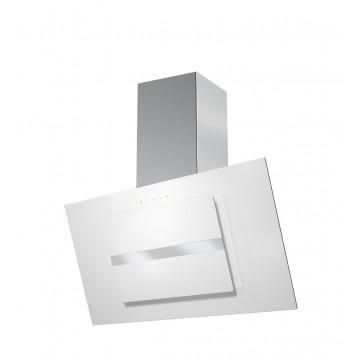 Vestavné spotřebiče - Faber NORTHIA EV8 W/X A90  - komínový odsavač, nerez / bílé sklo, šířka 90cm