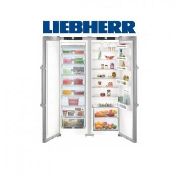 Volně stojící spotřebiče - Liebherr SBSef 7242 Americká lednička A++, NoFrost