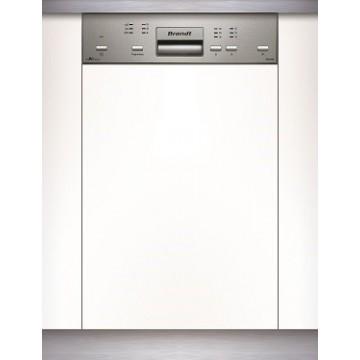 Vestavné spotřebiče - Brandt VS1010X Vestavná myčka nádobí s panelem, nerez, 45 cm, 4 roky záruka