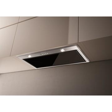 Vestavné spotřebiče - Faber INCA LUX GLASS EV8 X/BK A52  - vestavný odsavač, nerez / černé sklo, šířka 52cm