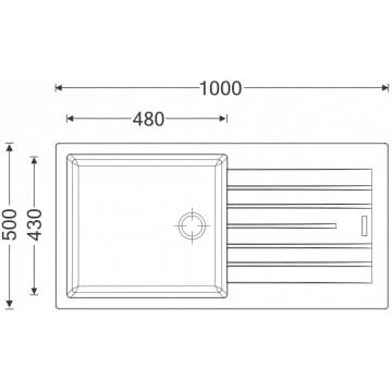 Kuchyňské dřezy - Sinks PERFECTO 1000 Metalblack
