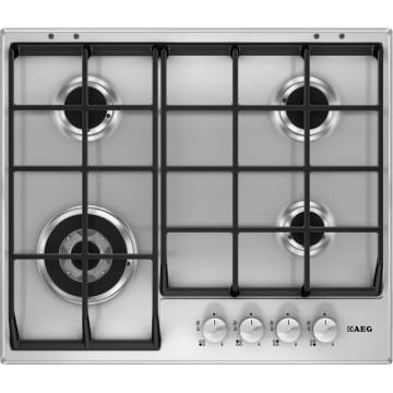 Vestavné spotřebiče - AEG Mastery HG654550SM plynová varná deska, nerez, šířka 60 cm