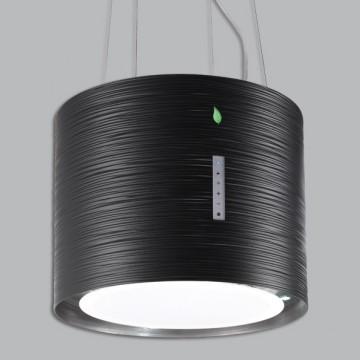 Vestavné spotřebiče - Falmec TWISTER E-ION Island - ostrůvkový odsavač, 45 cm, černý matný, 450 m3