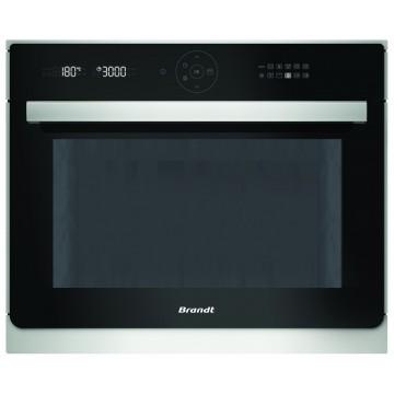 Vestavné spotřebiče - Brandt BKC6575X Vestavná mikrovlnná trouba s grilem, černá/nerez, 4 roky záruka