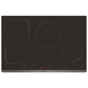 Vestavné spotřebiče - Brandt BPI6449BL Indukční varná deska, 80 cm, černá, 4 roky záruka