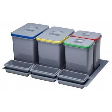 Odpadkové koše - Sinks PRACTIKO 800 2x15l+2x7l
