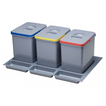 Odpadkové koše - Sinks PRACTIKO 800 3x15l