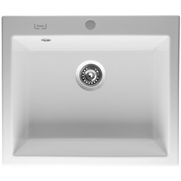 Kuchyňské dřezy - Sinks CERAM 600 Bílá