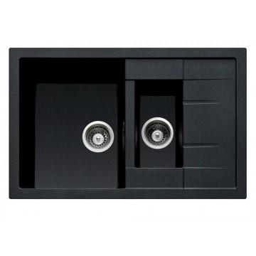 Kuchyňské dřezy - Sinks CRYSTAL 780.1 Metalblack