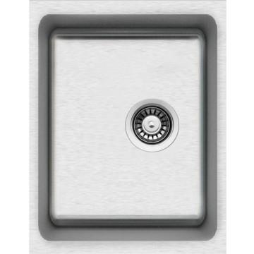 Kuchyňské dřezy - Sinks BLOCK 380 V 1mm kartáčovaný