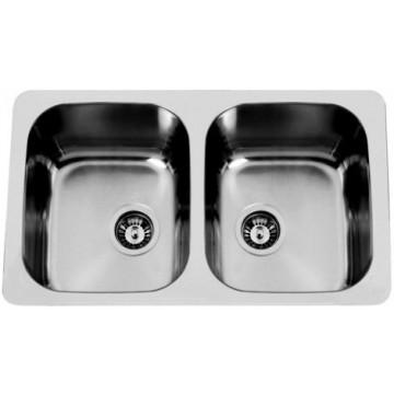 Kuchyňské dřezy - Sinks DUO 765 V 1,0mm leštěný