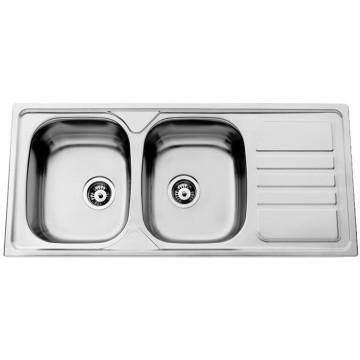 Kuchyňské dřezy - Sinks OKIO 1160 DUO V 0,6mm leštěný