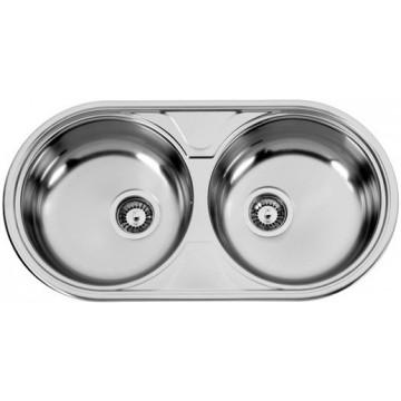 Kuchyňské dřezy - Sinks DUETO 847 V 0,6mm leštěný