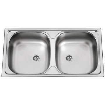 Kuchyňské dřezy - Sinks OKIO 780 DUO M 0,5mm matný