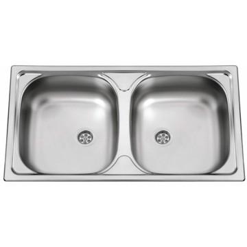 Kuchyňské dřezy - Sinks OKIO 780 DUO V 0,5mm leštěný