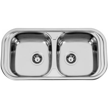 Kuchyňské dřezy - Sinks SEVILLA 860 DUO V 0,6mm matný