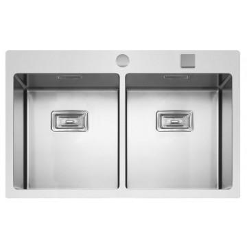 Kuchyňské dřezy - Sinks BOXER 755 DUO FI 1,2mm