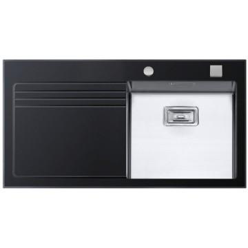 Kuchyňské dřezy - Sinks GLASS 1000 černý pravý 1,2mm