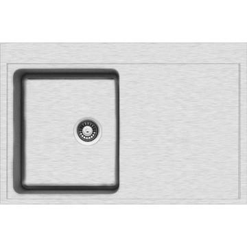 Dřezy - Sinks BLOCK 780 V 1mm levý kartáčovaný