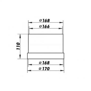 Příslušenství ke spotřebičům - Airforce Prodloužení k EVJ AF3 (10 cm) Prodloužení k EVJ AF3