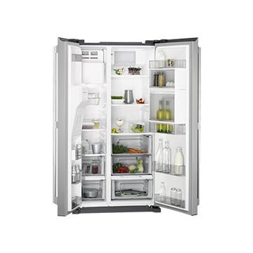 Volně stojící spotřebiče - AEG RMB86111NX americká lednice